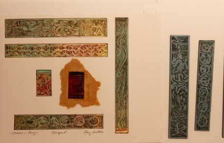 """Huacas in Frieze with plates 9.8 x 11.5"""""""